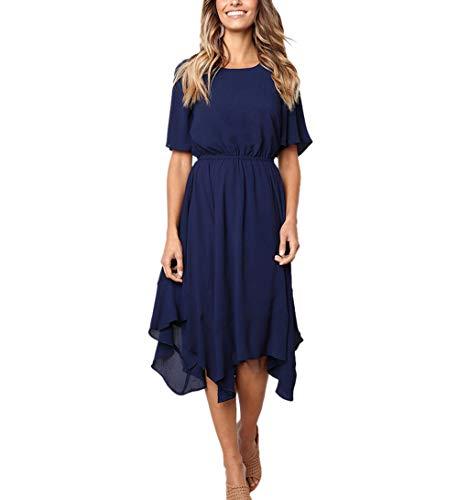 new styles a86e6 042d2 Moceal Donna Manica Corta Abito al Ginocchio Vestiti di ...