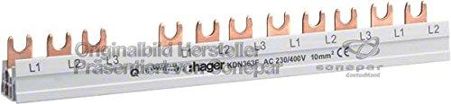 Hager KDN363F Phasensch. 3P+N 63A 10qmm 12 Einh.Gabelanschluss isoliert grau (Wasser Heizung Zubehör)