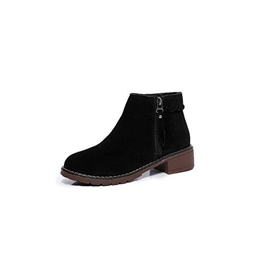 Martin bottes pour l'automne/hiver/Boot de gommage/ rétro tête bottes pour dames A