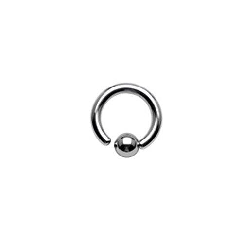 Paula & Fritz® Brustwarzen-Piercing Captive Bead Ring Klemm-Kugel Chirugenstahl Edelstahl 316L flexibel Silber ALLE Größen RSF_16103