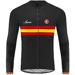 Sportbekleidung Uglyfrog Nationalflagge Raya Designs Radsportbekleidung Maillot Spring & Autumn Radfahrer Top Lange Ärmel-Dehera