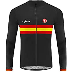 Sports Wear Uglyfrog Bandera Nacional Raya Designs Ropa Ciclismo Maillot Primavera&Otoño de Ciclistas Top Mangas Largas-Dehera