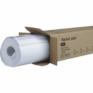 5 x Legamaster Flipchart-Papier 65x98cm 20 Blatt blanko