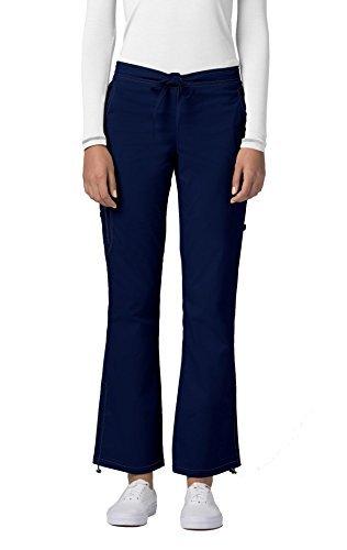 Navy Cherokee Workwear (Adar Pop-Stretch Junior Fit Low Rise Boot Cut Bungee Leg Pants - 3102 - Navy - S)
