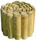 Staccionata legno Roller Border 200x30x5cm recinzione resistente giardino 13039