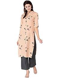 RAJMANDIRFABRICS Women's Cotton Straight Kurta with Pant Set