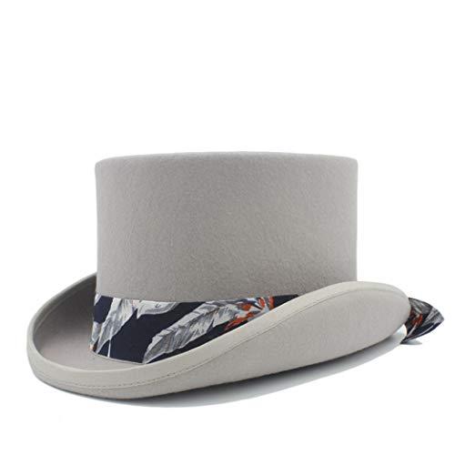 Donad Frauen Männer Steampunk Fedora 100% Wolle Top Hat mit Band Band Panama Hüte