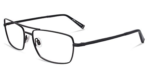 New John Varvatos Men's Prescription Eyeglasses - V148 Matte Black - 56/16/145