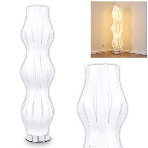 Lampadaire design extravaganten Plastique Blanc-Lampe de sol design vague avec interrupteur sur câble-Lampadaire moderne Salon-Chambre-Liseuse-E27Support lampe