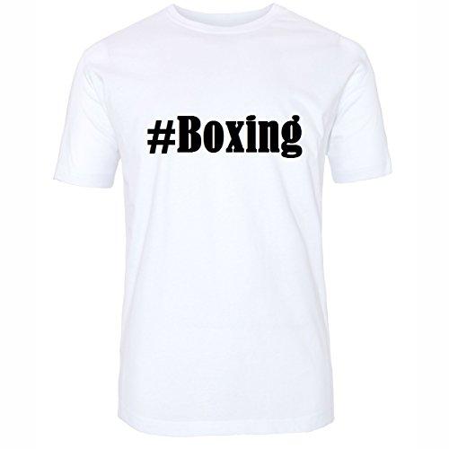 T-Shirt #Boxing Hashtag Raute für Damen Herren und Kinder ... in den Farben Schwarz und Weiss Weiß