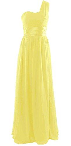 Drasawee Damen One-Shoulder Kleid Gelb - Gelb