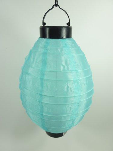 LED Solar-Lampion Oval türkis Solar-Gartenleuchte Solarleuchte Solarleuchte Laterne Lampe