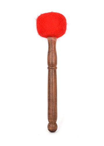Handmade Felt Wooden Striker Mallet for Playing Tibetan Singing Bowl & Gong (AH-STK1090-M)