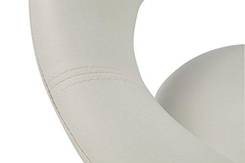 Sgabello girevole similpelle bianco sedie girevole regolabile in