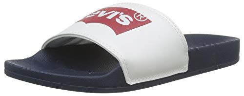 LEVIS FOOTWEAR AND ACCESSORIES Herren June Batwing Slide Sandalen, Blau (Navy Blue 17), 45 EU