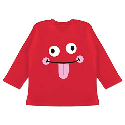 Karneval und Fasching Baby - Monster Karneval - 18-24 Monate - Rot - BZ11 - Baby T-Shirt Langarm