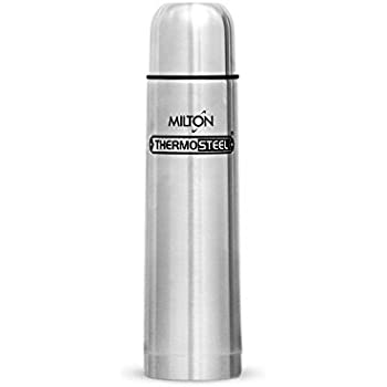 Milton Thermosteel Flask with Plain Lid, 1 Litre