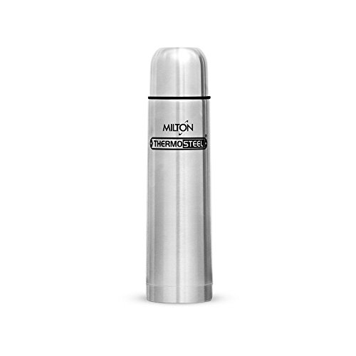 Milton Thermosteel Plain Lid 1000 Flask , 1 Ltr, Silver
