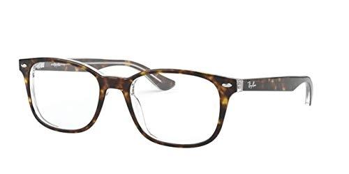 Ray-Ban Unisex-Erwachsene 0RX5375 Brillengestelle, Braun (Top Havana On Transparente), 53