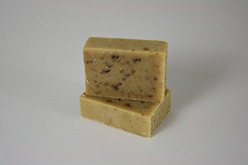 CARIA cremoso extra Sapone Shampoo Lavanda Pino Olio d'oliva fatto a mano Vegan naturale 110g (FBA)