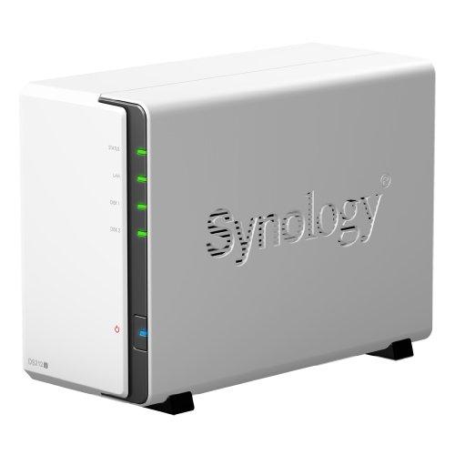 Synology DS212j NAS-System (1,2GHz, 256MB RAM, 2x USB 2.0, 1x GBLAN, SATA II)