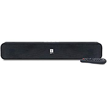 iBall Musi Bar High Power Compact Soundbar with Multiple Playback Options | FM Radio | Micro SD Card Slot & Built in Mic (Black)
