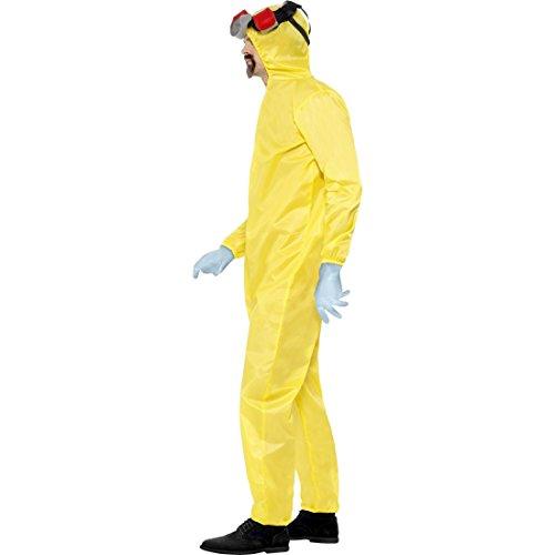 Walter White Schutzanzug Lab Overall Filmkostüm XL 56/58 Heisenberg Labor Jumpsuit Breaking Bad Kostüm Karneval Kostüme Herren Film Faschingskostüm Gelber Ganzkörperanzug