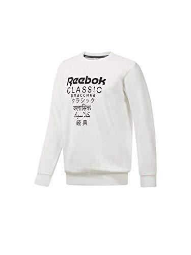Reebok Classic Sweatshirt Unisex Fleece Weiss (10) M (Reebok-finish)