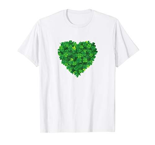 Kleeblatt Herz Irisch Irland St. Patrick's Day T-Shirt -