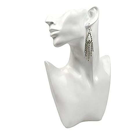 Head Bust Stand Jewelry Collier Boucle d'oreille Chaîne Display Holder Rack Show