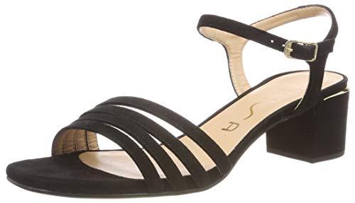 Unisa Koizel_KS, Sandali con Cinturino alla Caviglia Donna, Nero Black, 38 EU