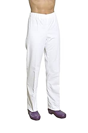 Holtex WBER07_94 Pantalon Mixte Bering, Sergé, Taille 4, Blanc