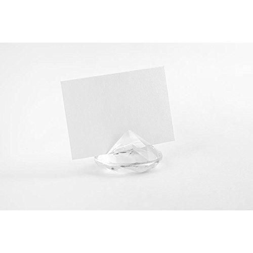 PartyDeco Conf. 10 Segnaposto Diamante Trasparente, ca. 4 cm