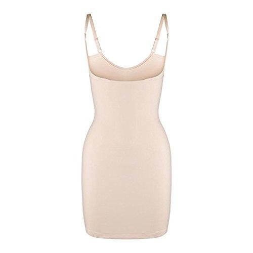6881536615b8ed ELDAR Bauchweg Unterwäsche Figurformendes Miederkleid Damen Shapewear Kleid  Formkleid Formende Kleider Unterkleid (M, Beige)