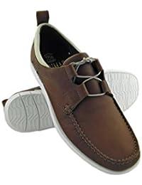 Zerimar. Zapato para caballeros náutico de piel de primera calidad con suela de goma flexible Color cuero.
