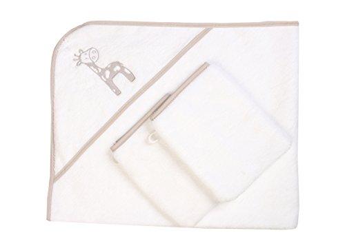Baby Kapuzenhandtuch mit 2 Baby-Waschlappen/Sehr Hochwertig/100{eb19d4e0a67117c46c91fa68faf6b6fb6fa8cf168a3276fc5239d5d6c6d1f049} Flauschige Baumwolle – Perfekt als Geschenk für Neugeborene, Öko-Tex Standard 100, Giraffe