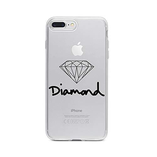 licaso Apple iPhone 7 Plus Handyhülle Smartphone Apple Case aus TPU mit Diamond Jewel Print Motiv Slim Design Transparent Cover Schutz Hülle Protector Soft Aufdruck Lustig Funny Druck (Verlobungsring Protector)