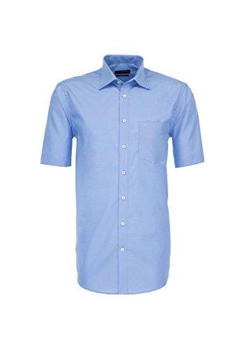 Michaelax-Fashion-Trade -  Camicia classiche  - Basic - Classico  - Maniche corte  - Uomo Mittelblau (14)