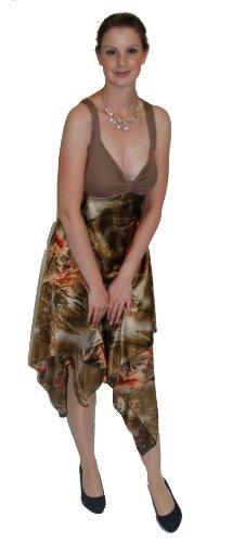 Sommerkleid aus Satin Braun-Braun