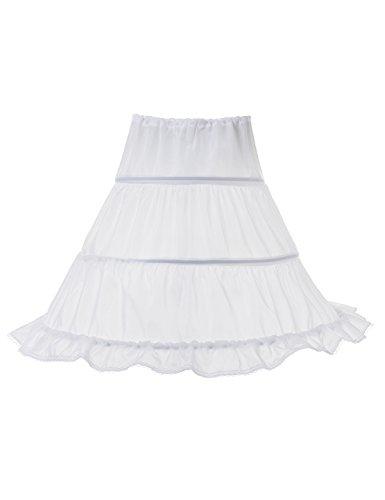 Remedios-3-Hoop-Girl-Petticoat-Children-Crinoline-Half-Slip-Underskirt-185Long