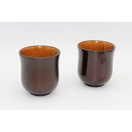 NIHAOJIA 2 Holzbecher, Natürliche Jujube, Handgemachte Kaffeetasse, Milchbecher, Bier Im Freien Tragbare Holzbecher