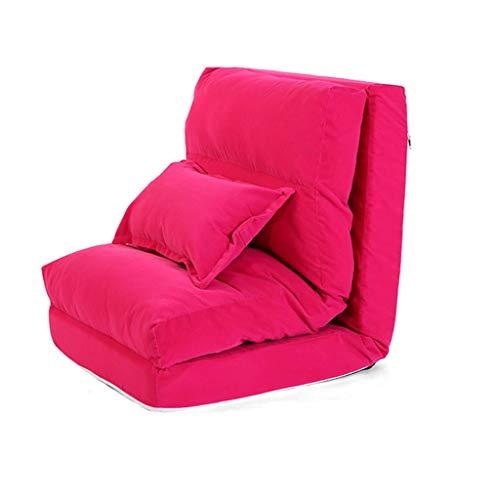 Canapés et divans Canapé Inclinable Canapé Multifonctions Chaise Longue Baie Vitrée Chaise Longue Lit Divan Pliant, Chaise Longue Bureau Sieste Portant 150KG (Color : Pink, Size : 220 * 60 * 18cm)