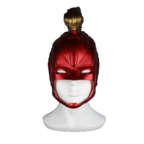 NDHSH Überraschung Kapitän Helm Maske Kopfbedeckung Kostüm Halloween Maske Film Requisiten Cosplay Kostüm Weihnachten Maskerade Party Maske,Red-Head Circumference Below 57CM