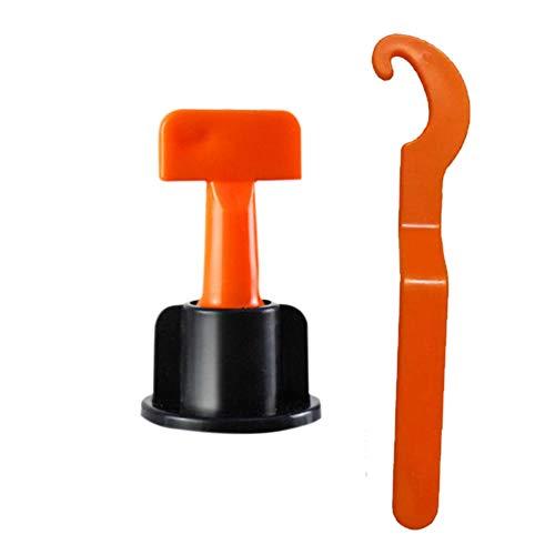 TOOGOO 50 Stueck Bodenbelag Wand Fliesen Nivellier System Leveler Kunststoff Clip Einstellbare Locator Abstandshalter Zange Keile Handwerkzeuge -