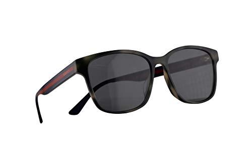 Gucci GG0417SK Sonnenbrille Havana Braun Mit Blauen Gläsern 56mm 004 GG0417/SK 0417/SK GG 0417SK