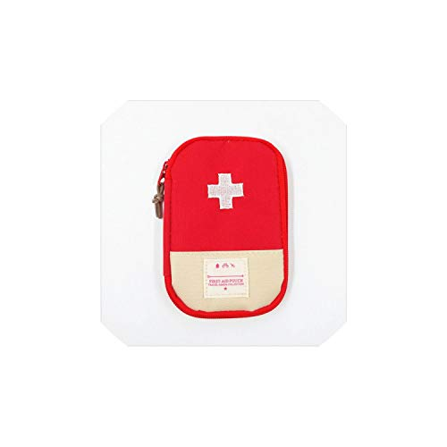 Storage Box Camping First Aid Kit Portable Emergency Medical Bag Waterproof Car Kits Bag Outdoor Travel Survival Kit Empty Bag,L,Red -