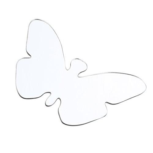 VORCOOL 25st Schmetterling geformte Acryl Spiegel Rechteck Wand Aufkleber Home Zimmer Kunst Decals