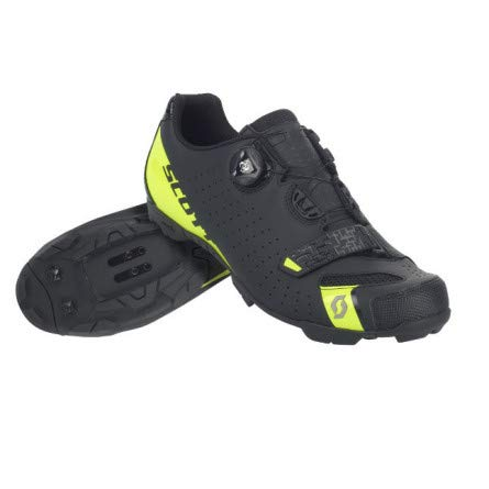 SCOTT MTB Comp Boa Zapatillas de ciclismo, negro y amarillo, 2018, matt black/sulphur yellow, 46