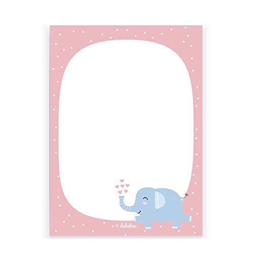 ür Kinder: Elefant mit rosa Herzen, DIN A6, 25 Blatt (Mitgebsel Kindergeburtstag, Mädchen) (Mädchen Osterkörbchen)
