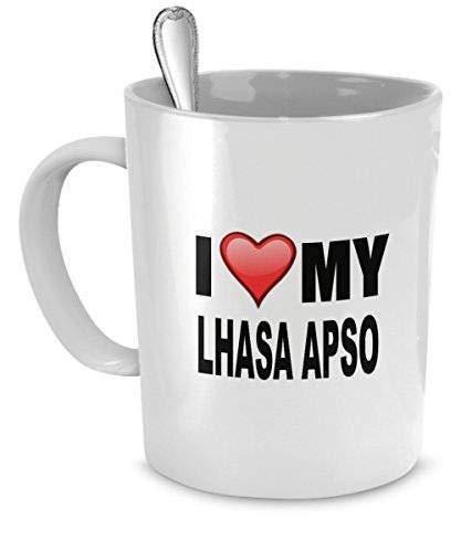 Mike21Browne Becher Lhasa Apso Ich Liebe Mein Liebhaber-Geschenke Lhasa Apso Lhasa Apso Hundeliebhaber-Geschenke 11 Unze-keramische Tasse -